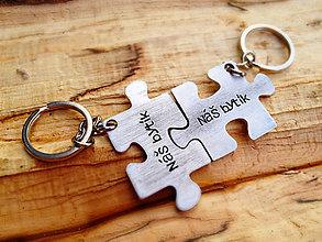 Kľúčenky - PUZZLE / 2mm hrúbka / cena za 2ks - 6333782_