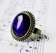 Prstene - Violet Veins Agate - 6329214_
