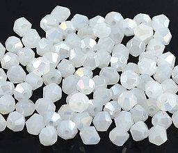 Korálky - Bicone Swarovski - White Jade /4mm/ 10 ks - 6332622_