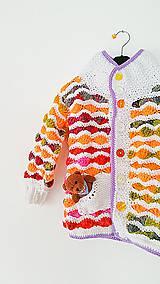 Detské oblečenie - Svetrík farebný... - 6329361_