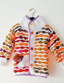Detské oblečenie - Svetrík farebný... - 6329307_