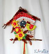 Veľká veľkonočná dekorácia / vtáčia búdka veľká (vtáčika Čima)