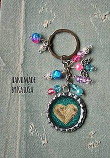 Kľúčenky - pink/blue - 6329171_