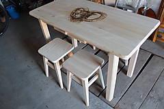 Nábytok - Drevený stôl - 6332132_