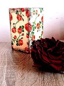 Svietidlá a sviečky - Svietnik s ružami - 6331243_