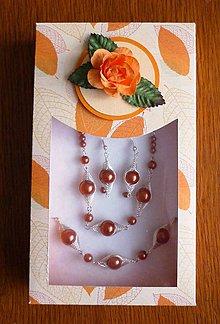 Sady šperkov - 3-dielna oranžová sada - 6331448_
