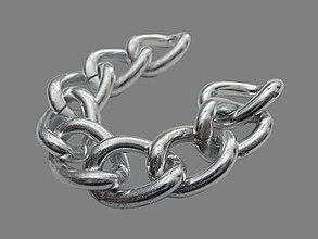 Komponenty - RET5026, RETIAZKA Aluminium 18x13mm STRIEBRO /10cm - 6329879_