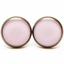 Náušnice - Farby - Pinky Mist - Ružový závoj - 6328770_