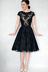 Šaty - Koktejlové celokrajkové šaty rôzne farby - 6330573_