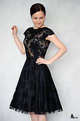 Šaty - Koktejlové celokrajkové šaty rôzne farby - 6330575_