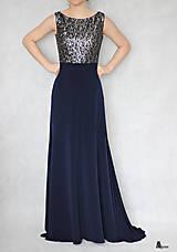 Šaty - Spoločenské šaty s flitrami a tylom rôzne farby   ZLAVA - 6331062_