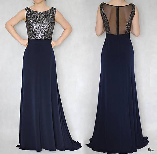 Spoločenské šaty s flitrami a tylom rôzne farby   ZLAVA