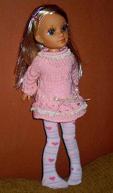 Bábiky - Pletené šaty, pančuchové nohavice - 6331645_