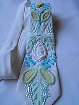Doplnky - kravata vyšívaná - 6331296_