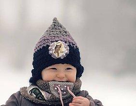 Detské čiapky - Skřítek od Sovího smrku - 6332438_