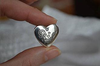 Komponenty - Kovový prívesok srdce, 0.45€/ks - 6329377_