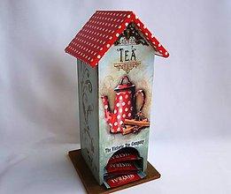 Nádoby - Retro domček na čaj - 6336944_