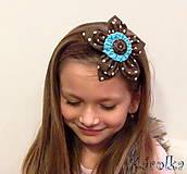Čokoláda -  krajková čelenka pre deti