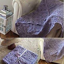 Úžitkový textil - Deka Granny levandulová - 6336598_