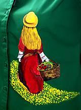 Košele - Prechádzka letnou lúkou na zelenej blúzke - 6334621_