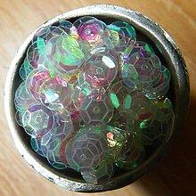 Korálky - Flitre lomené ružovobiele 6mm s  AB  efektom  6mm - 6334315_