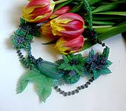 Náhrdelníky - Kvetinový náhrdelník Mermaid - 6335507_