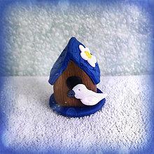 Dekorácie - Búdka pre vtáčikov s vtáčikom - 6336017_