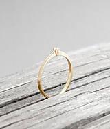 Prstene - 585/14k zlatý zásnubný prsteň s prírodným diamantom 2mm, G, VS - 6339637_