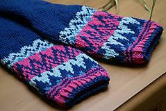 Obuv - Nórske merino ponožky so špicmi I. - 6338030_