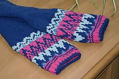 Obuv - Nórske merino ponožky so špicmi I. - 6338031_