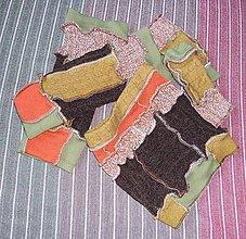 Šály - súprava rukavice, nákrčník a štucne - 6338420_