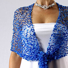 Šály - Slzy Afrodity... krajkový pletený šál / pléd - 6340793_