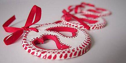 Dekorácie - Valentín-Ozdoby na zavesenie plné lásky - 6342616_