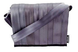 Kabelky - Espace silver - z bezpečnostních auto pásů - 6342297_