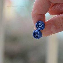 Náušnice - blue mini napichovačky I. - chirurgická oceľ - 6341113_
