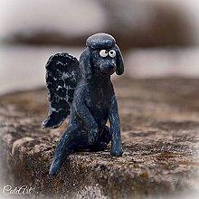 Dekorácie - Strážny anjel Pudel - pudlík - 6341738_