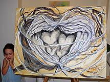 """Obrazy - Obrovská malba """"Strážny anjel rodiny"""" NO.1.:) - 6339602_"""