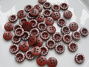 Galantéria - Drevené gombíky - gaštankové - 6338542_
