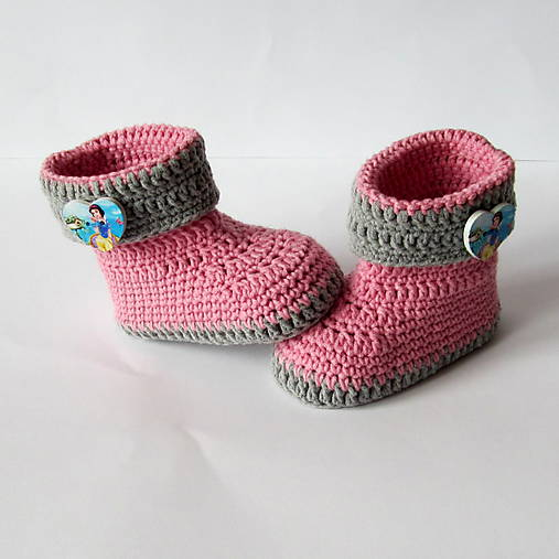 Topánočky - Háčkované čižmičky bavlna/akryl - 6338747_