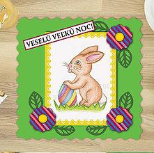 Papiernictvo - Veľkonočné pohľadnice zelené - 6341368_