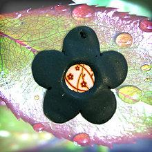 Náhrdelníky - Tmavý kvet - 6342168_