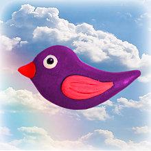 Magnetky - Roztomilý vtáčik - magnetka - 6342175_