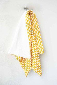 Textil - _BUVI... žltá & biela... deka pre najmenších ♥ - 6345650_