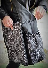 Veľké tašky - Praktická taška XXL na kočík folk - 6343768_