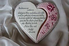 Dekorácie - Medovníkove srdce pre rodičov - 6346911_