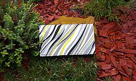 Peňaženky - Pestrá peňaženka na 8 kariet,koženka+bavlna - 6344451_