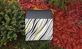 Peňaženky - Pestrá peňaženka na 8 kariet,koženka+bavlna - 6344458_
