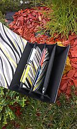 Peňaženky - Pestrá peňaženka na 8 kariet,koženka+bavlna - 6344459_