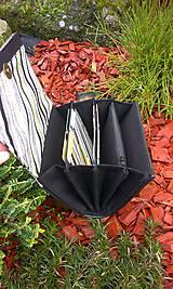 Peňaženky - Pestrá peňaženka na 8 kariet,koženka+bavlna - 6344463_