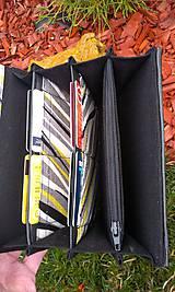Peňaženky - Pestrá peňaženka na 8 kariet,koženka+bavlna - 6344464_